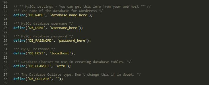 Atualize seu arquivo wp-config.php com os seus dados da base de dados.