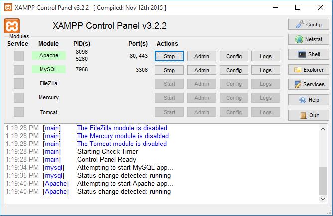 Como installer xampp e wordpress localmente no windows ecow gen xampp up and running stopboris Gallery