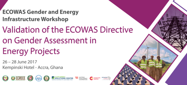 ECOWAS Gender Energy WORKSHOP Banner